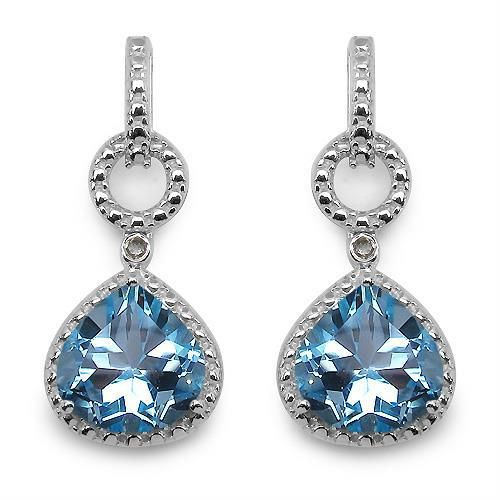 - Majesty Diamonds - 7 CTW Pear Cut Blue Topaz and 1/10 CTW Round Cut White Diamond Dangle Drop Earrings in .925 Sterling Silver, $99.00 (http://www.majestydiamonds.com/7-ctw-heart-cut-blue-topaz-and-1-10-ctw-round-cut-white-diamond-dangle-drop-earrings-in-925-sterling-silver/)
