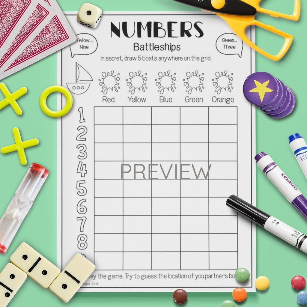 Numbers Battleships Game