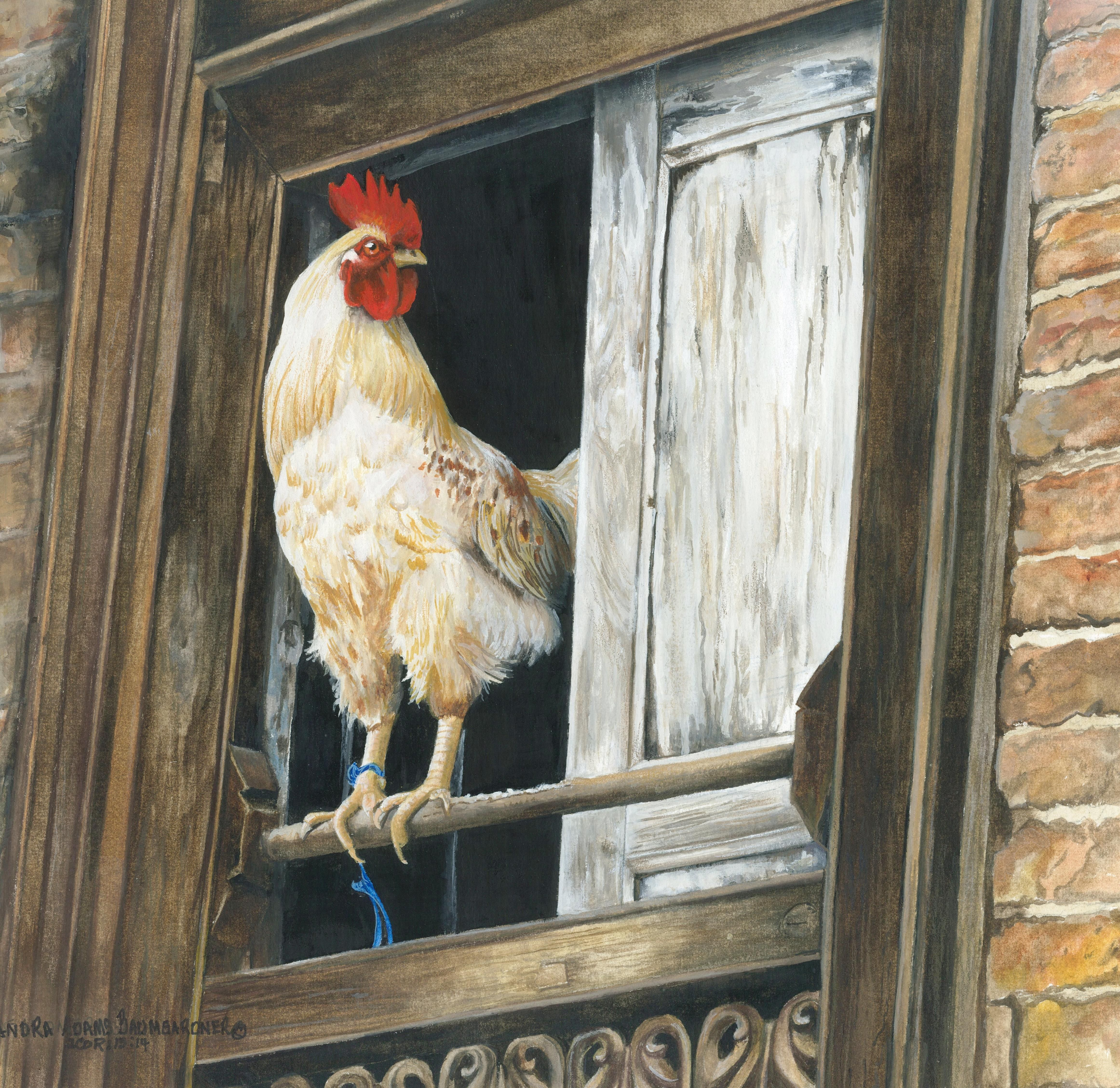 """Bird's Eye View"" Opaque watercolor by Sandra Baumgardner"