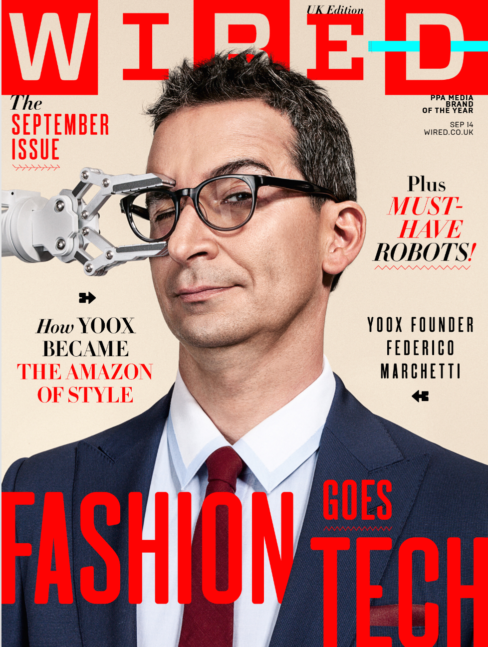 This week we chose Wired Sep 14 Issue for magazine cover of the week ...