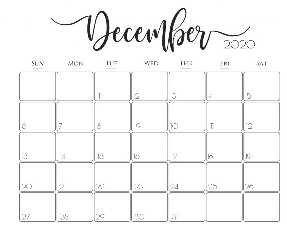 Cute December 2020 Calendar For Your Daily Schedule Tips