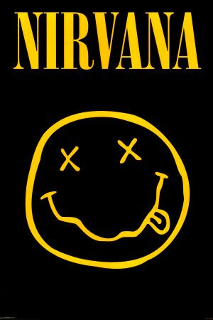 Nirvana Smiley Face | Nirvana Smiley Face Logo Poster | Art Garden