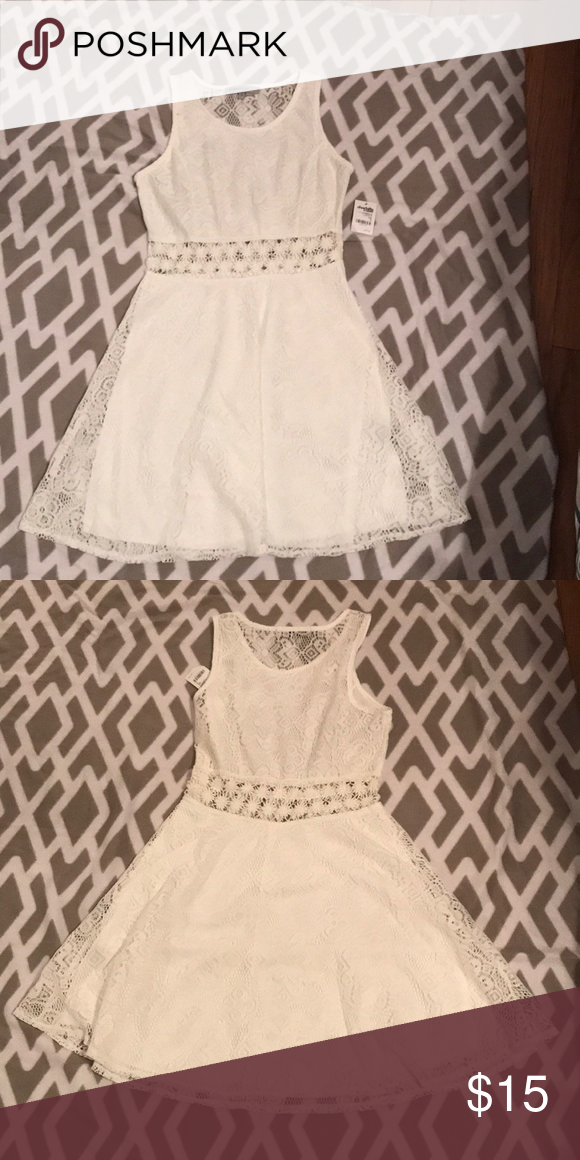 8af7df1b2c1 Charlotte Russe white lace dress Never worn! Beautiful white lacy dress.  Perfect for spring occasions! Charlotte Russe Dresses Mini