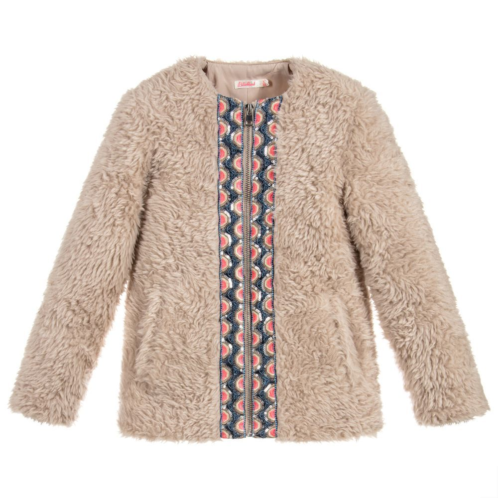 4739da498 Girls Beige Faux Fur Jacket for Girl by Billieblush. Discover more ...