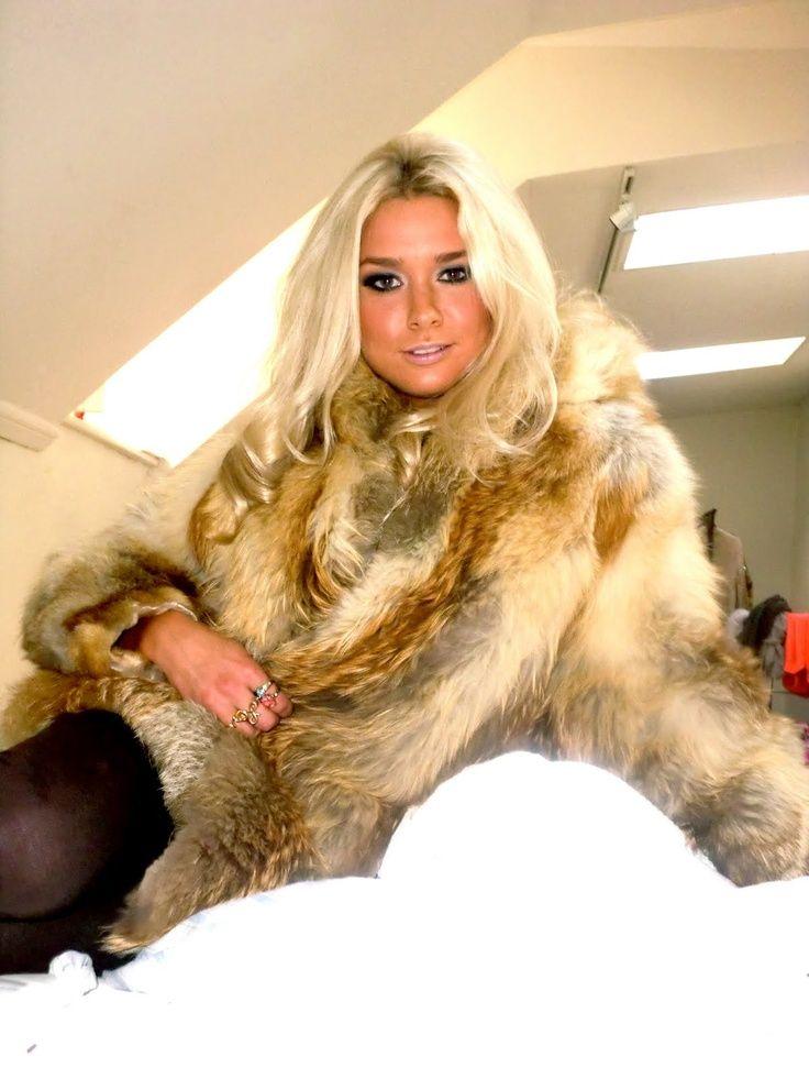 For the Beautiful blonde in fur coat