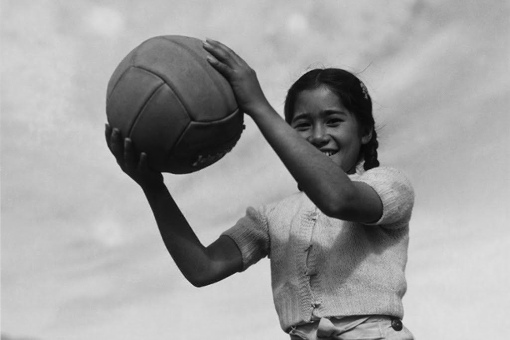Girl and Volleyball No. 2, by Ansel Adams