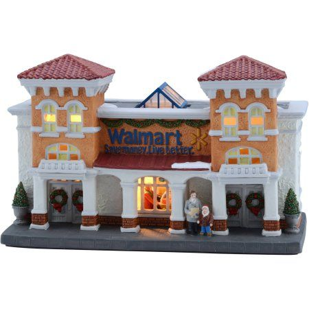 holiday time 6 inch walmart supercenter christmas villageholiday time 6 inch walmart supercenter christmas village, multicolor