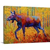 Found it at Wayfair - Cow Moose by Marion Rose Painting Print on Canvas