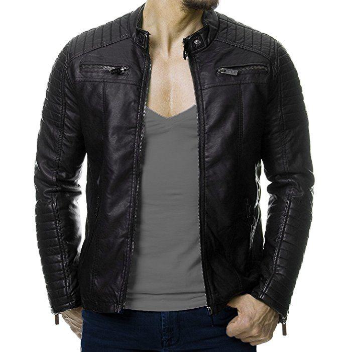 chaquetas de cuero para hombre
