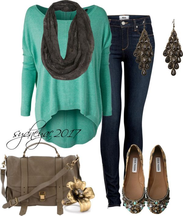"""""""Casual Fall Day"""" by sydneyac2017 on Polyvore"""