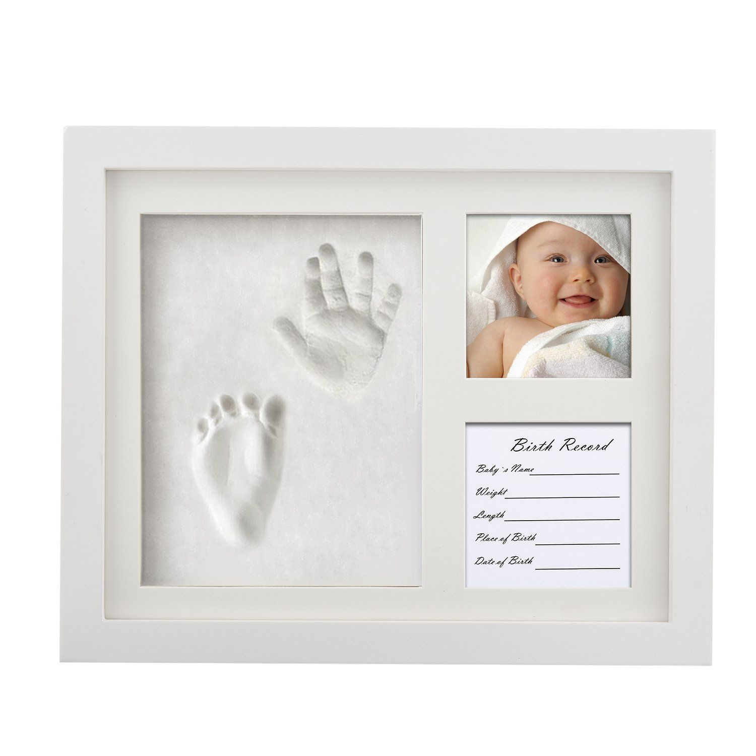 For Newborn Baby Hand Foot Print Clay Cast Kit Photo Picture Frame Gift