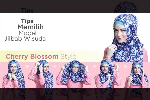 Cherry Blossom Style Kenakan Kerudung Segi Empat Zoya Dengan Sisi Kanan Lebih Pendek Dari Sisi Kiri Kemudian Sematkan J Hijab Modern Hijab Hijab Tutorial