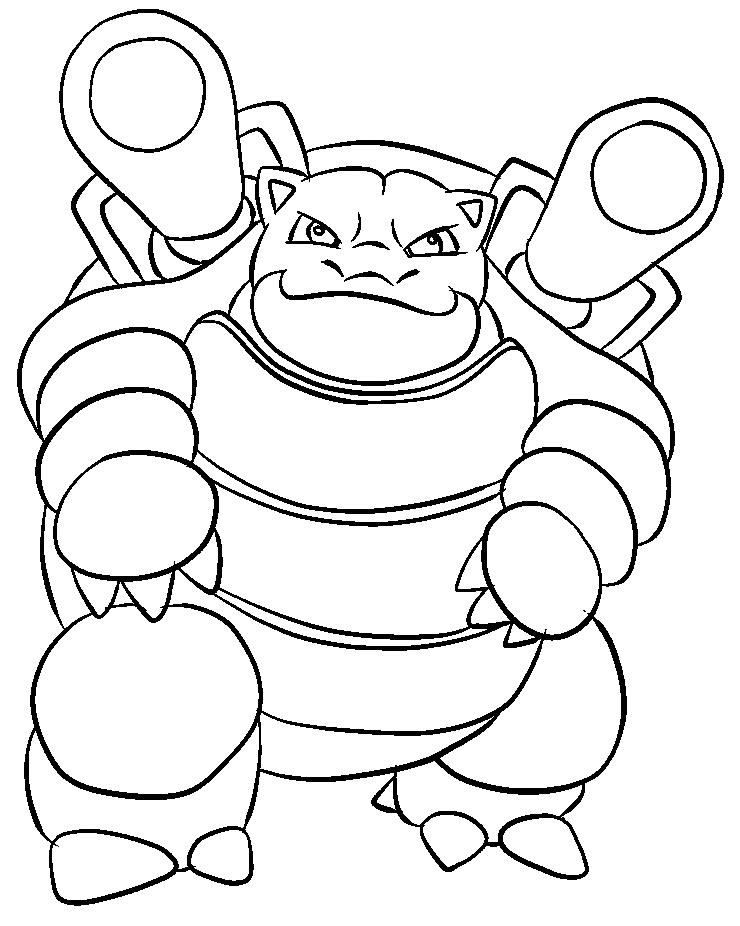 009 Blastoise Lineart by lillygerbil on DeviantArt