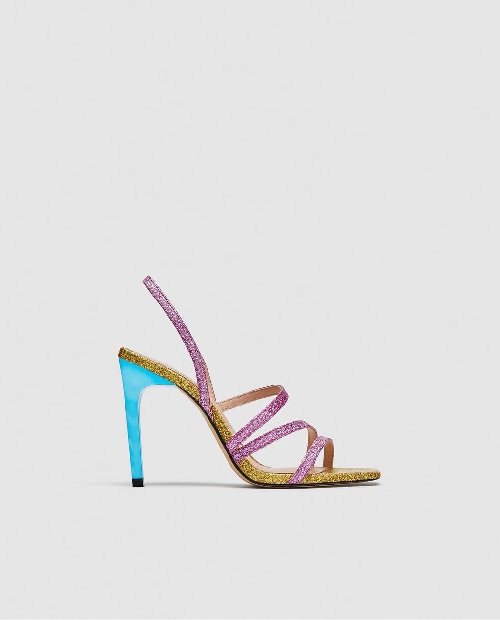 dirt cheap outlet store sale arrives SHINY MULTI-STRAP SANDALS-Heeled Sandals-SHOES-WOMAN-SALE | ZARA ...
