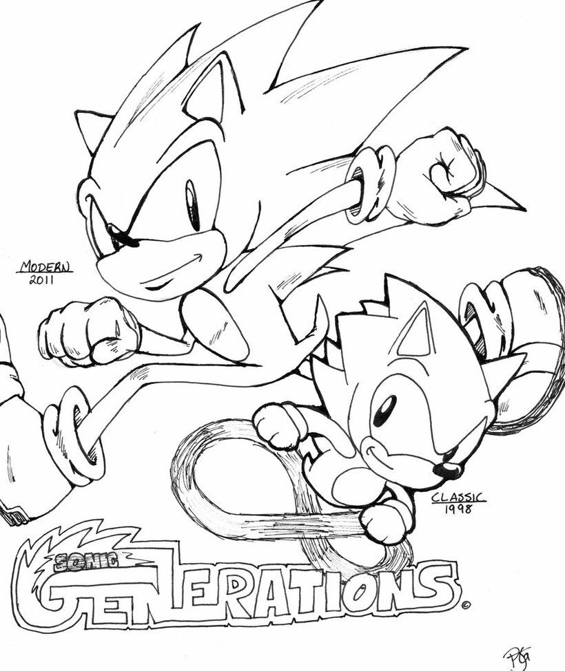 Sonic Generations Coloring Pages Sonic Generations Coloring Pages