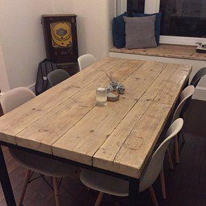 Zuruckgewonnenindustrie Chic 10 12 Sitzer Esstisch Bar Cafe