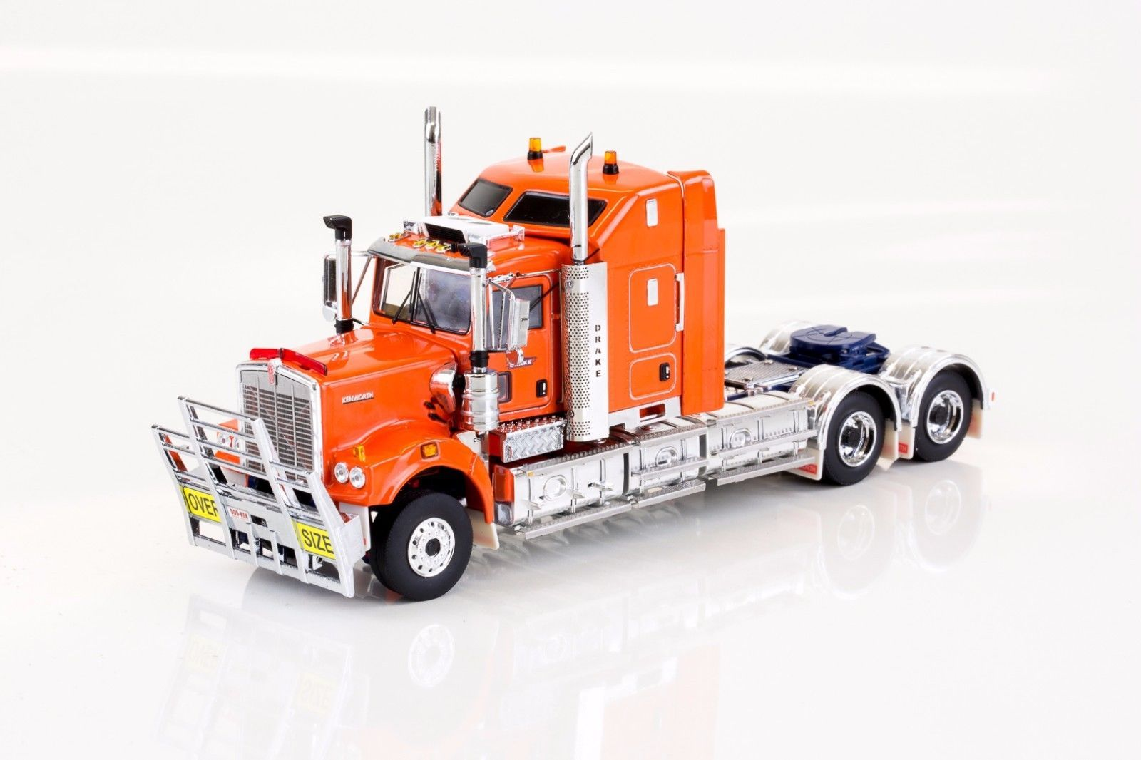 transformer kenworth c509 prime mover - drake orange - 1:50