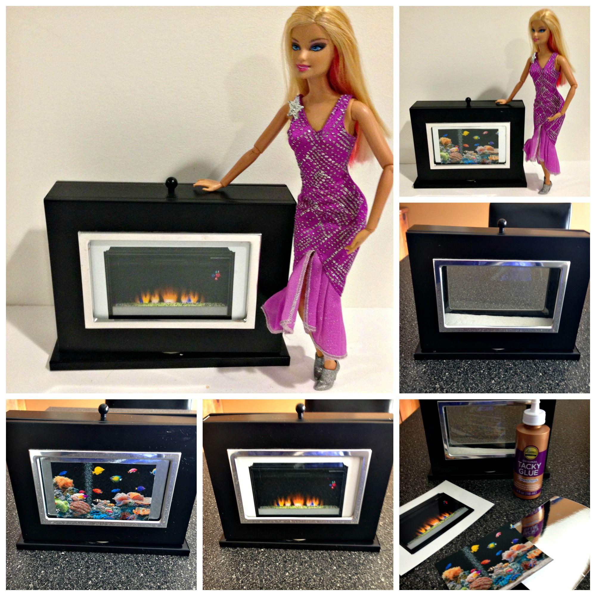 DIY Reversible Fireplace Fishtank for Barbie Dolls