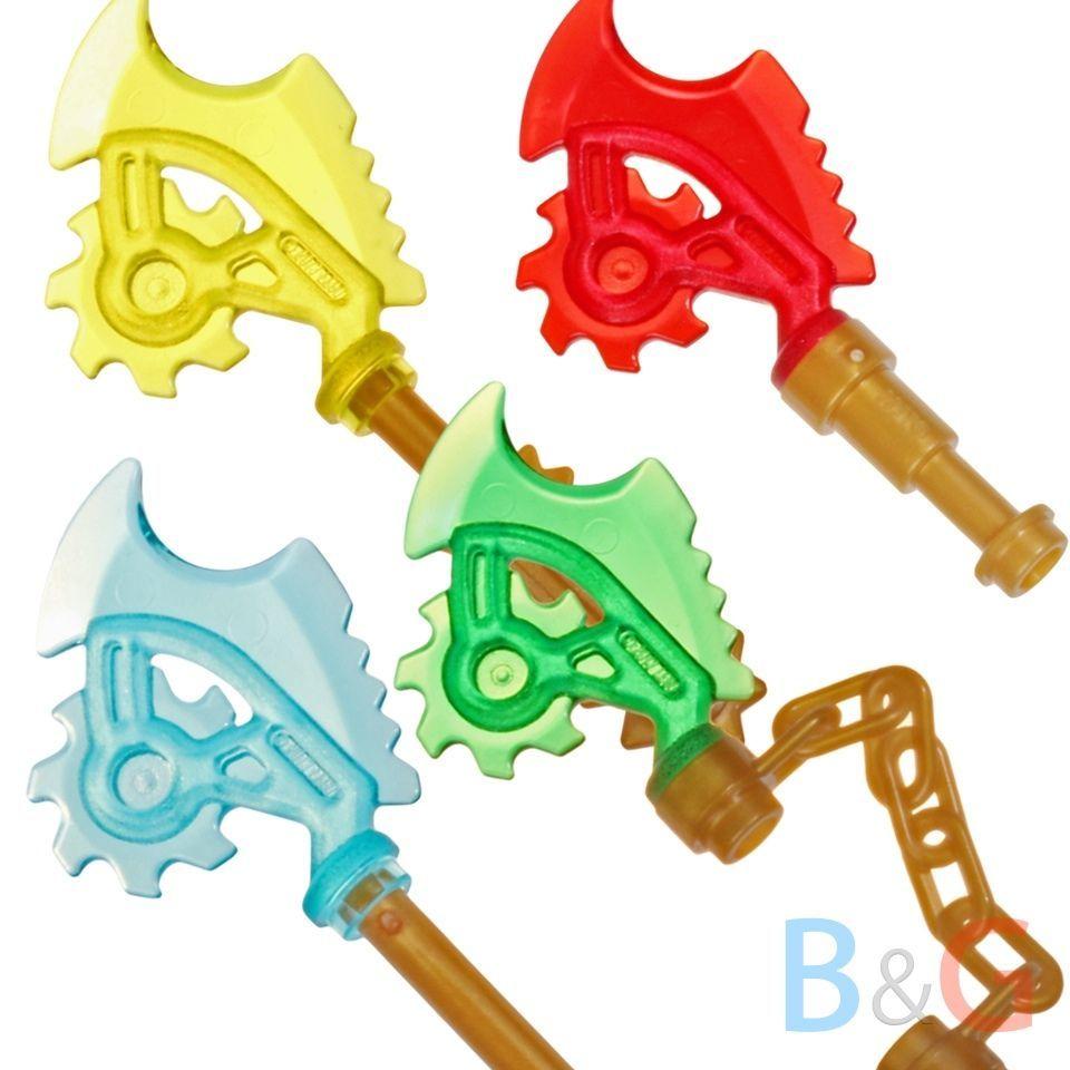 NEW Lego 4 Ninjago Ninja SPEARS Purple Green Blue Gold Minifig Weapon//LightSaber