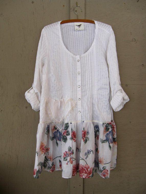 Romantische Böhmisches Kleid Upcycled Kleidung gefahrenen Cowgirl ...