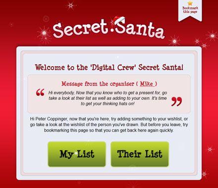 Secret Santa App Secret santa, Holiday christmas party