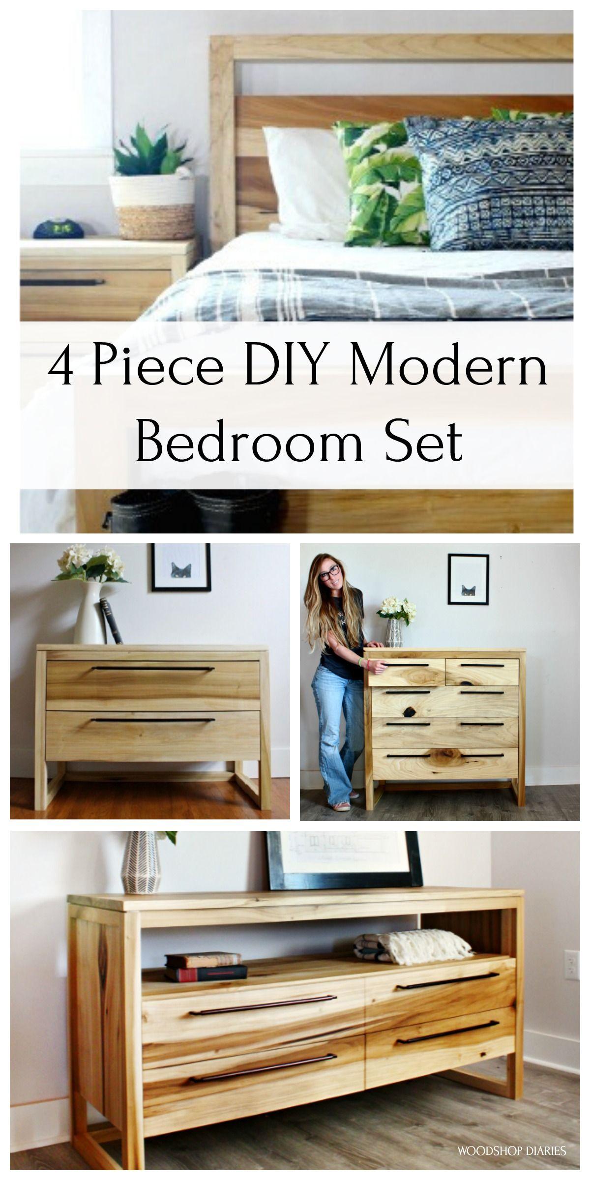 Build Your Own Modern Bedroom Set Modern Bedroom Set Bedroom Set Diy Bed Frame Plans