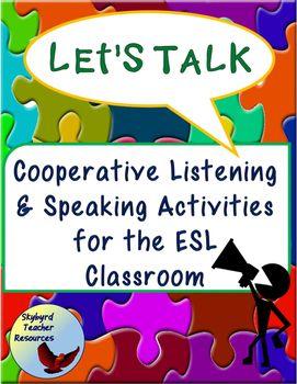 ESL EFL Listening and Speaking Communication Activities | Esl