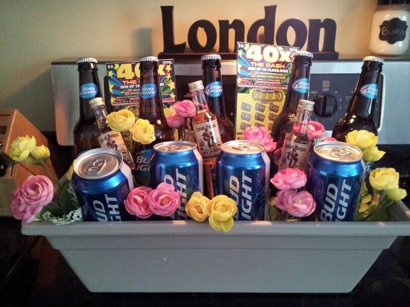 The fourth year anniversary gift is flowers... my bud light bouquet ...