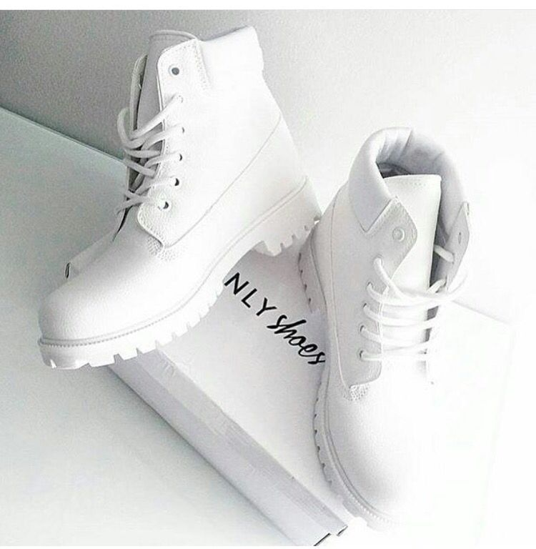 basket timberland blanche