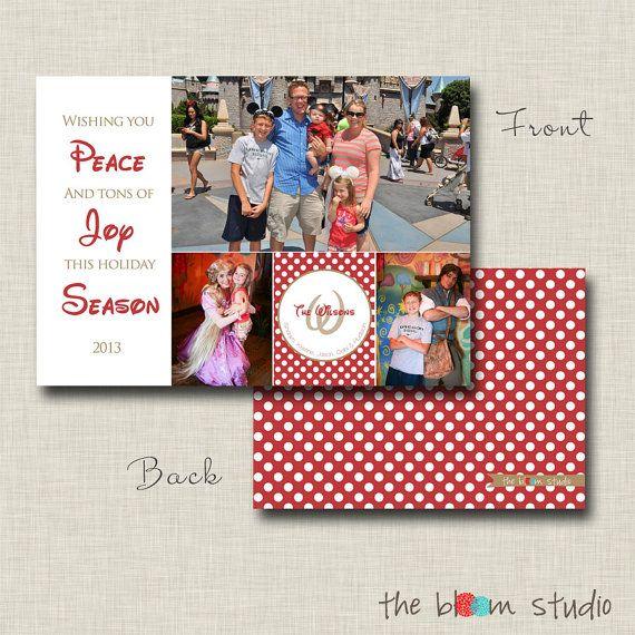 Disney Themed Photo Christmas Card Design By Thebloomstudio Christmas Photo Cards Christmas Card Design Disney Christmas Cards