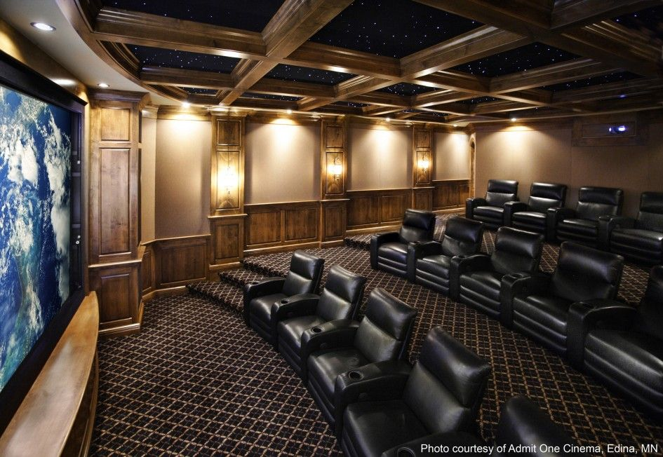 Amazing Theater Rooms   Fascinating Home Theater Room Design Plans ...