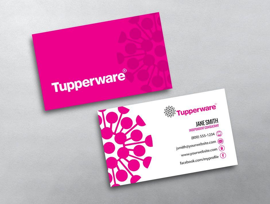 Tupperware Template 01 Cartes Modeles De Impression Gratuite Visite