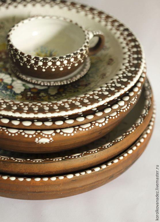 Керамика.Блюдо керамическое (майолика) (с изображениями ...