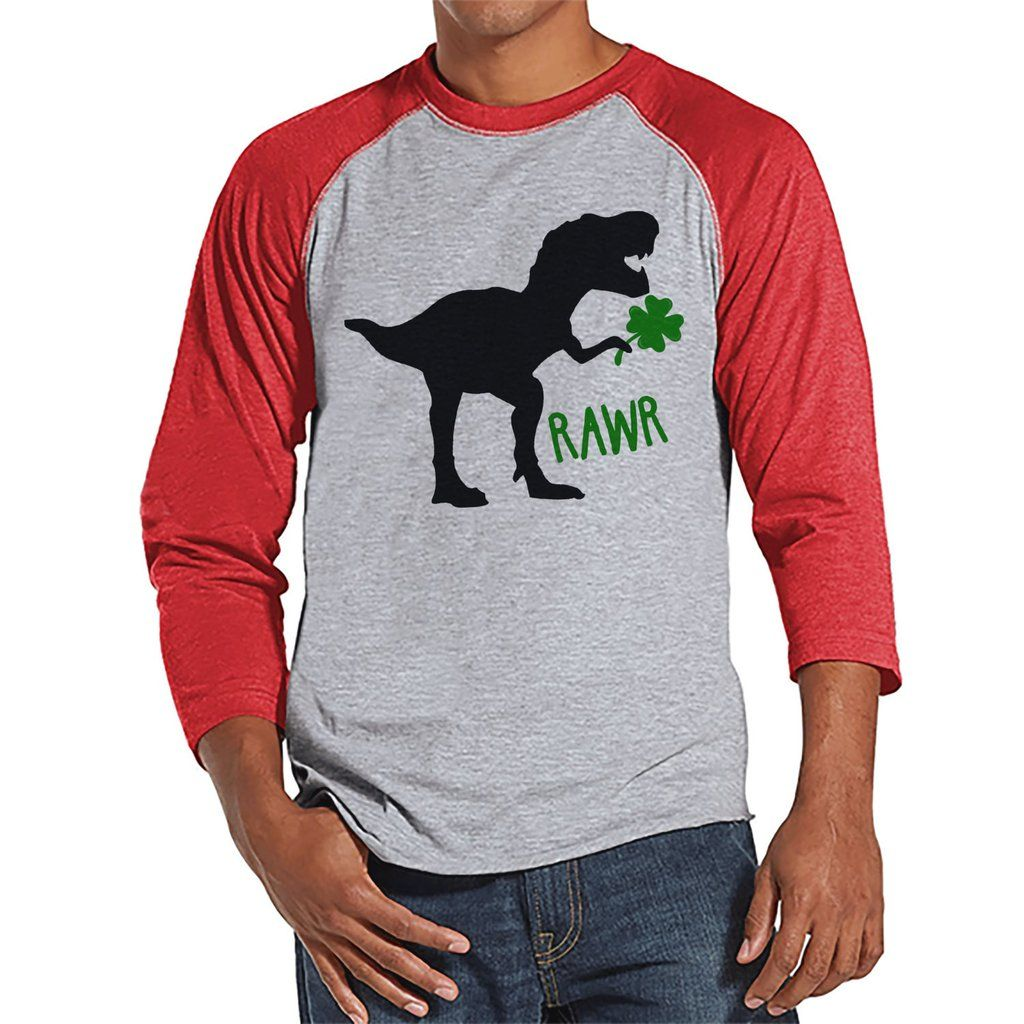 Men's St Patricks Day Shirt Mens Dinosaur St Paddy's Day