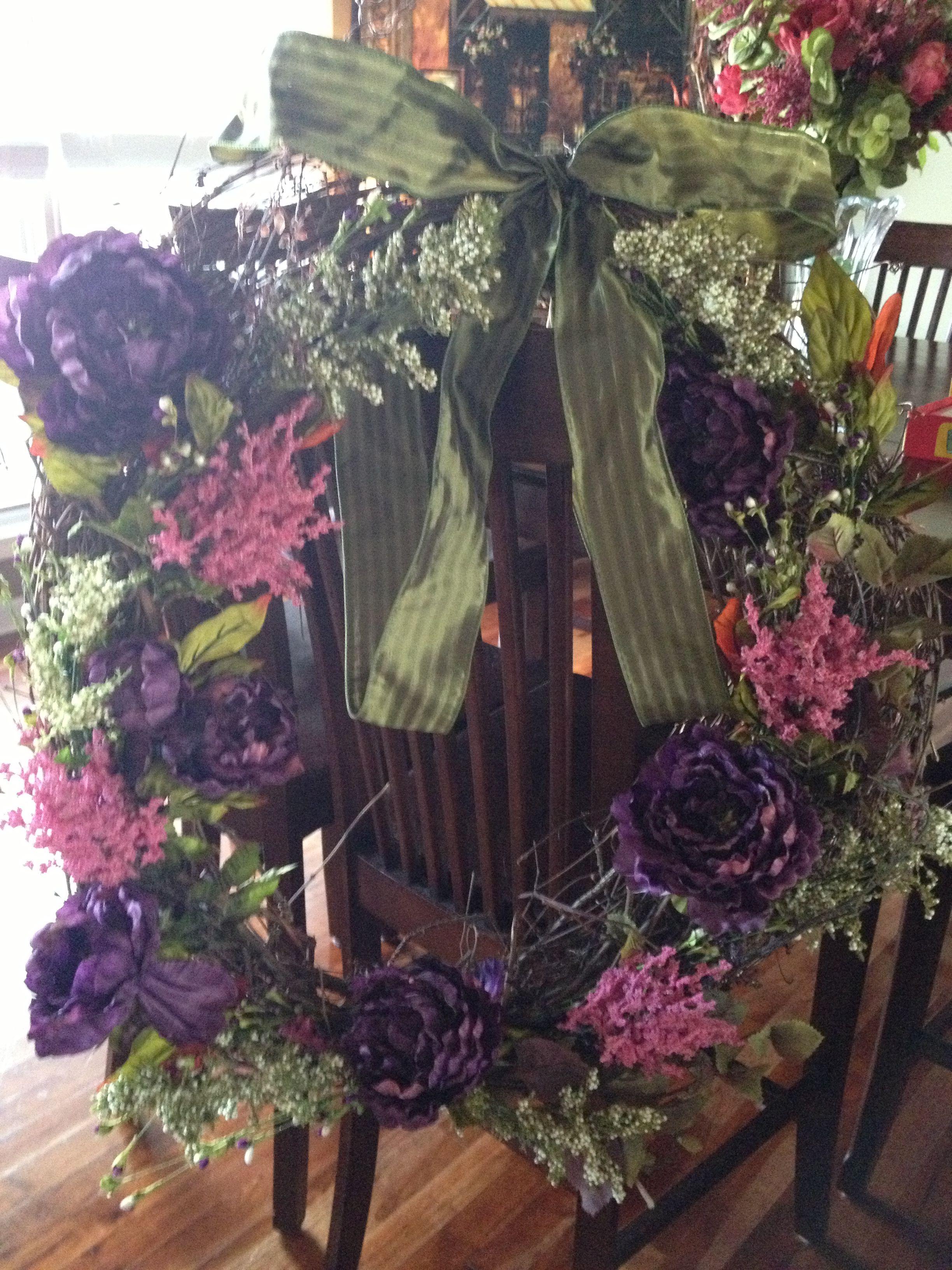 Diy wreath dried flower arrangements diy wreath