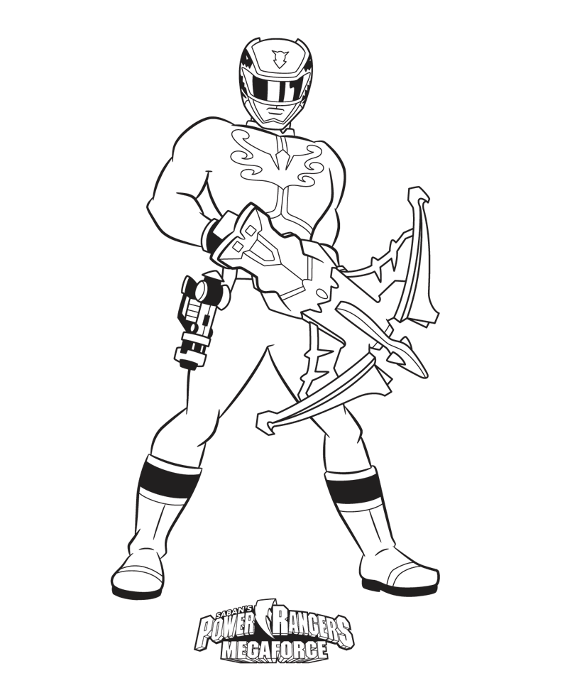 Power Rangers Megaforce Coloring Pages Avec Images Coloriage
