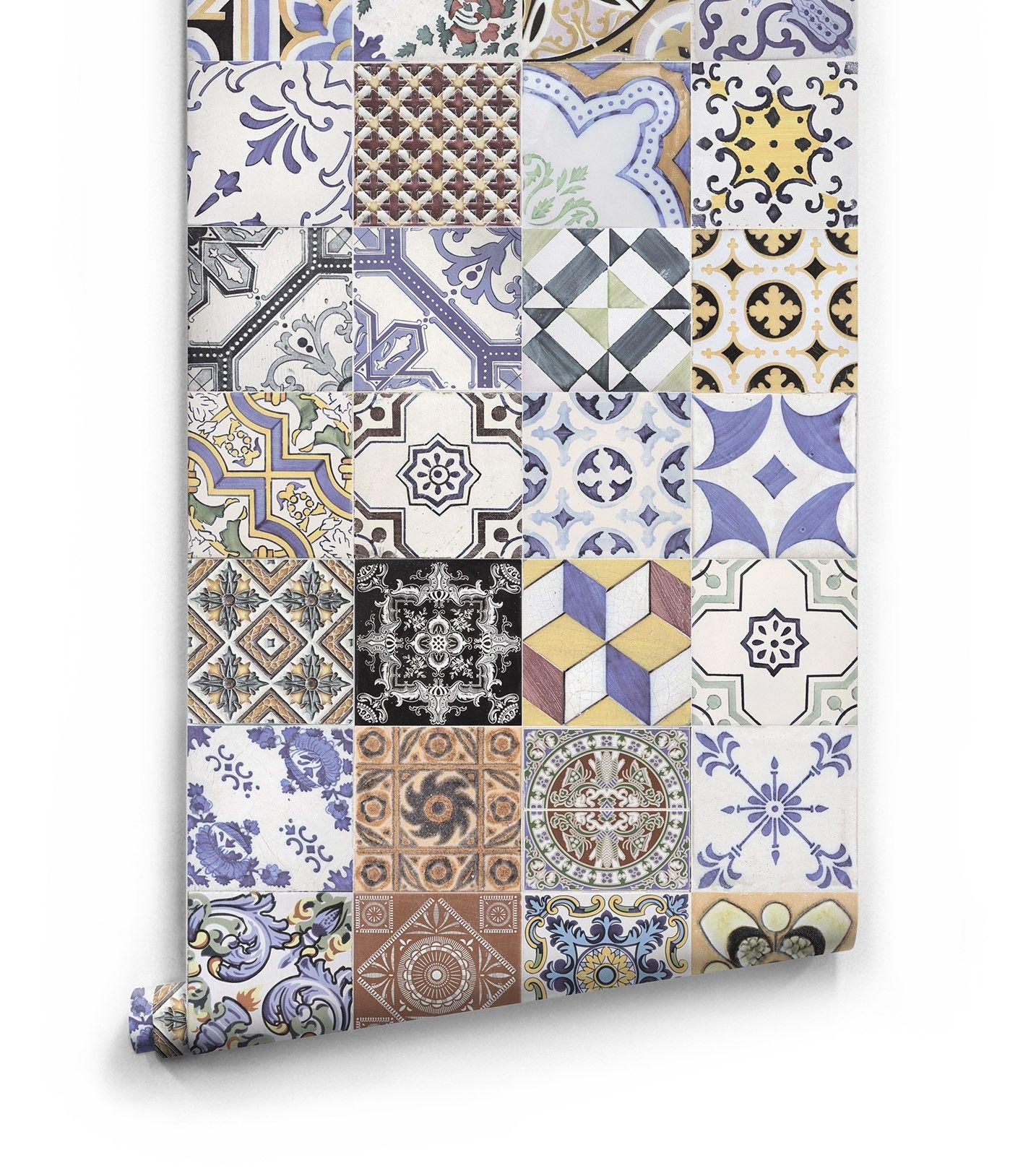 Federation Tiles Wallpaper • Vintage Ceramic Tiles (With