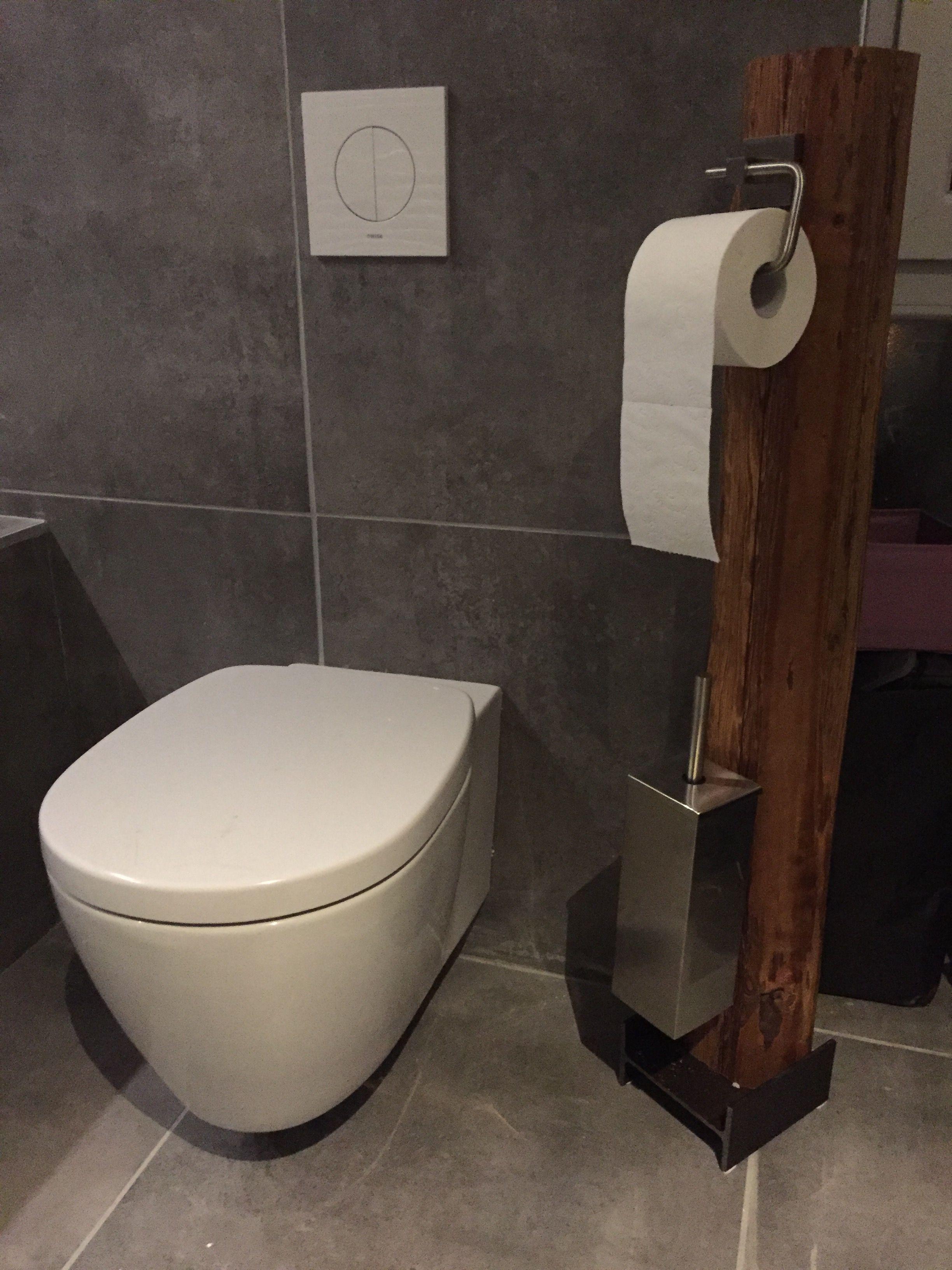 WC Garnitur Holz Stahl Wc garnitur