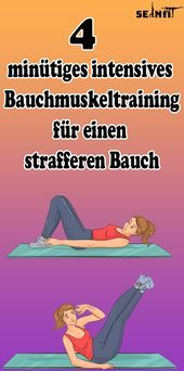 4-minute intensive abdominal training for a tighter stomach   - Gesundheit und fitness - #4Minute #a...