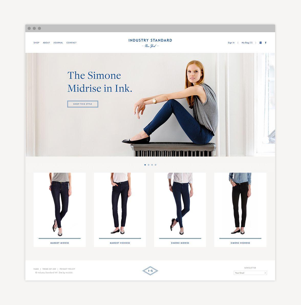 Industry Standard website designed by Nudge