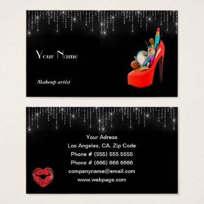 Makeup artist business card makeup artist business cards makeup artist business card artists unique special customize presents reheart Image collections