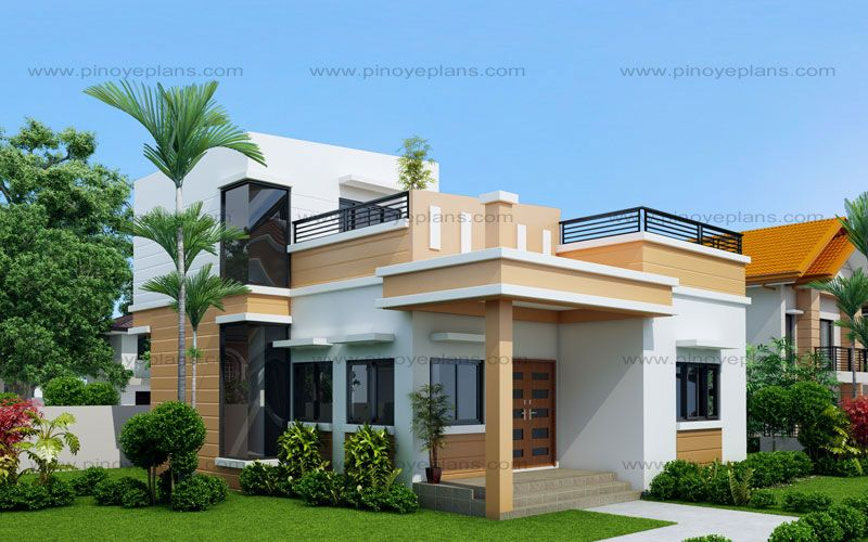 Maryanne One Storey With Roof Deck Shd 2015025 Pinoy Eplans Small House Design One Storey House Bungalow House Plans