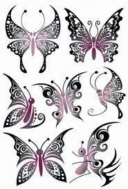 Galeria Tatuazy Tatuaze Motyle Tribal Butterfly Tattoo Tattoos Butterfly Tattoo