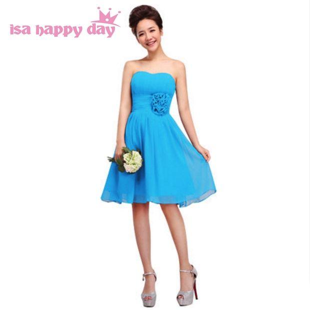 a line chiffon size 8 short sky blue gown off shoulder strapless ...