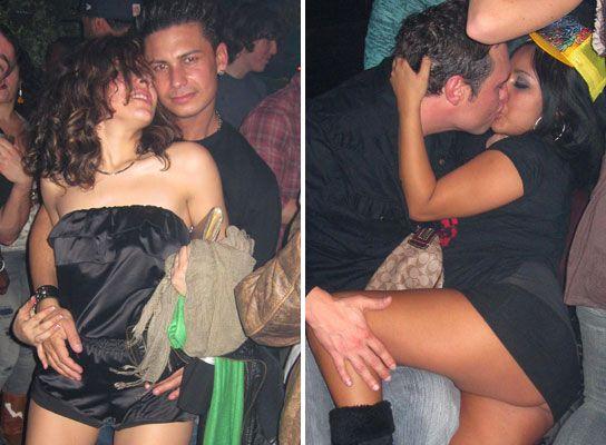 Girl grinding a guy
