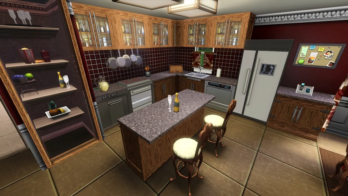 Cute kitchen layout for sims 3 | Cute kitchen, Kitchen, Home ...