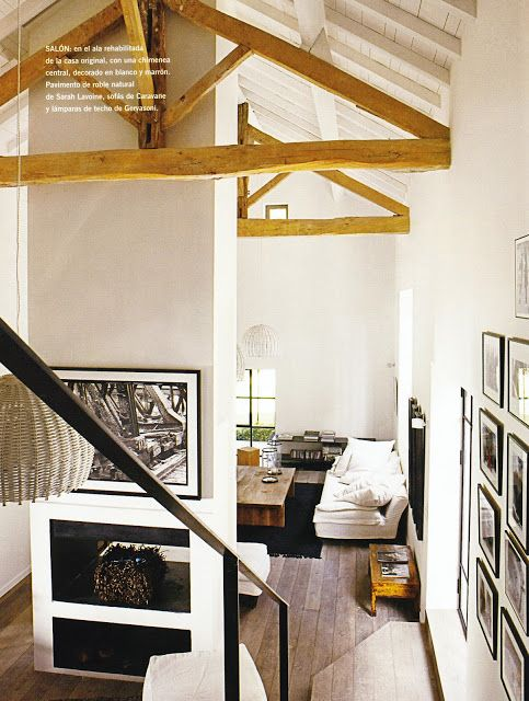 Fachwerk-Balken im Gartenhaus Gartenhaus-Gestaltung \ Terasse - einrichtung im industriellen wohnstil ideen loftartiges ambiente