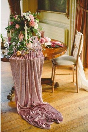 Velvet Tablecloth Velvet Table Runner Velvet By Candycrushevents