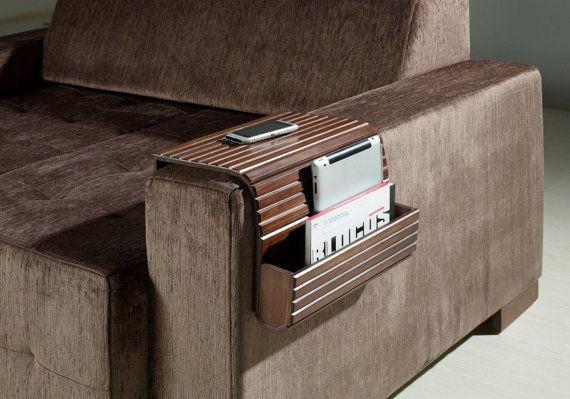 Couchmaid Organizer Original Sofa Tray Walnut Multi By Soffittausa Love This Idea Multi Functional Sofa Wood Sofa Remote Holder