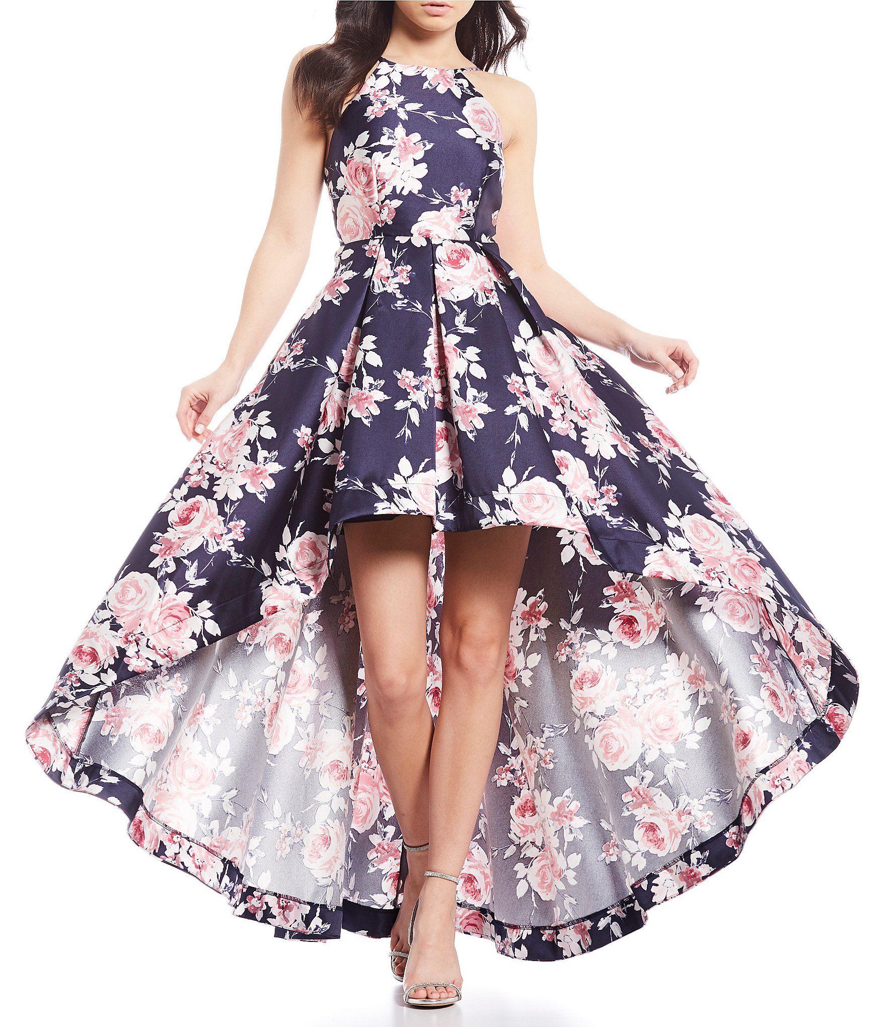 Shop For Xtraordinary High Neck Floral Print Long High Low Dress At Dillards Com Visit Dillards Co Formal Dresses Long High Low Prom Dresses Cute Prom Dresses [ 2040 x 1760 Pixel ]